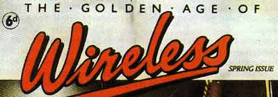 Lettering from the cover of The Golden Age Of Wireless